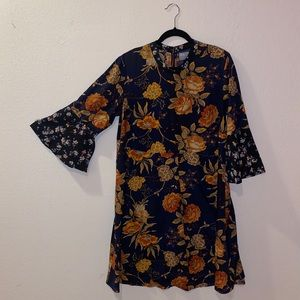 ASOS Bell Sleeved Floral Swing Dress